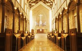 modern church wedding decoration party themes inspiration