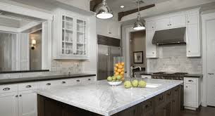 gray kitchen cabinets with white marble countertops different types of marble for kitchen and bathroom countertops
