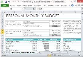 Monthly Budget Template Excel Free Personal Monthly Budget Template For Excel
