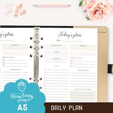 planner page templates a5 daily planner printable today s plan daily zoom