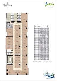 typical floor plan sikka kapital grand floor plans with price list sikka downtown