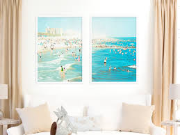 Photography Home Decor Set Of Two Large Wall Art Large Beach Photography Living Room