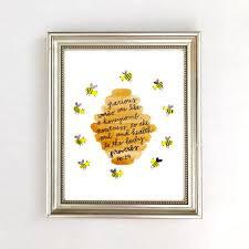 Bumble Bee Nursery Decor Bible Verse Wall Print Bee Nursery Decor Bee Print Bee