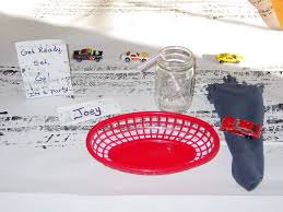 Cheap Party Centerpiece Ideas by Car And Tire Themed Birthday Party Tirezoo
