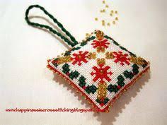 happiness is cross stitching cross stitch ornaments