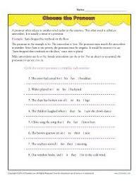 possessive pronouns grammar pronoun worksheets and worksheets