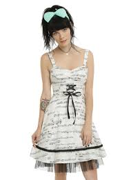 hot topic wedding band ivory black note dress hot topic