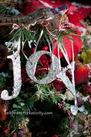 diy glitter letter ornaments are fast and make spell words or