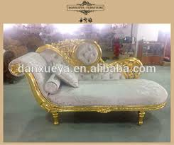 gold throne oak wood carved chaise lounge living room sofa set