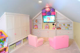 kids playroom special for girls with cabinet white wood decorating