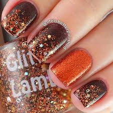 golden glitter nails nails thanksgiving