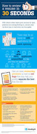 Resume In Job by How To Review A Resume In 30 Seconds Infographic Hireright