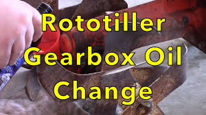 rototiller gearbox oil change youtube