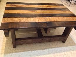 handmade wood coffee table hand crafted handmade reclaimed rustic pallet wood coffee table