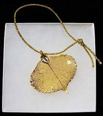 dipped in gold quaking aspen leaf real leaves dipped in gold with ribbon or