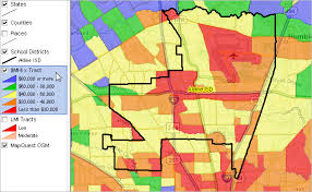 isd map largest 100 school districts
