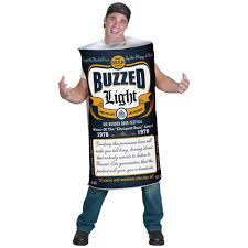 funny beer cartoon buzzed light funny beer can joke costume
