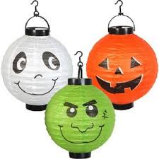 amazon com six 6 large halloween paper lanterns ghost ghoul