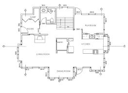 a floor plan to draw house cross sections