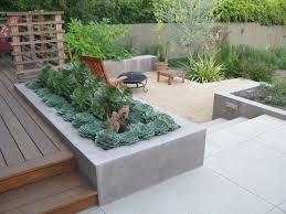 Concrete Planter Boxes by Built In Planter Ideas Building Raised Garden Beds Contemporary