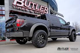 Ford Raptor Black - ford raptor with 20in black rhino sierra wheels exclusively from