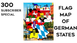 German States Map Flag Map Of German States 300 Subscriber Special Youtube
