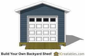 Shed Overhead Door 12x16 Shed Plans With Garage Door Icreatables