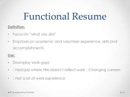 functional resume description job application resume