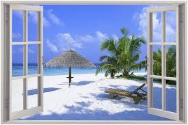 3d wall art uk shenra com 20 wall decal window view 3d beach window view removable wall art