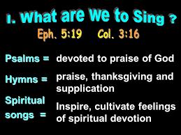 singing in worship ppt