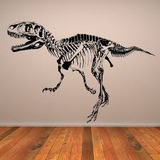 Wall Art Stickers by T Rex Skeleton Dinosaurs Wall Art Sticker Wall Decal K U0027s Room