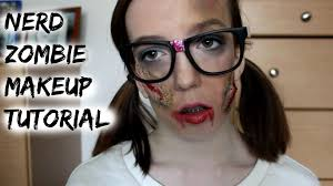 nerd costumes for halloween nerd zombie halloween tutorial babymad74 youtube