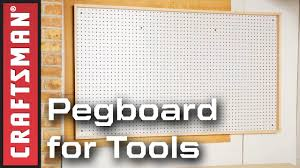 garage organization ideas how to make a pegboard for tools