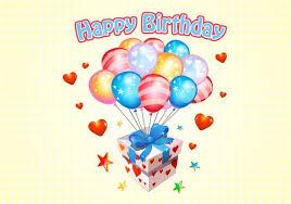 happy birthday balloon happy birthday balloons free vector free vector