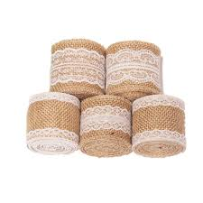 rustic ribbon 10m retro burlap lace trim rustic jute garland