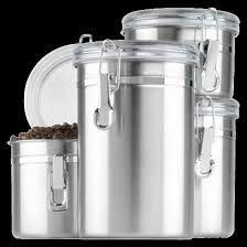 stainless steel 4pc canister set with lid silver threshold target