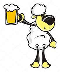 cartoon beer lamb sheep cartoon animal farm beer alcohol foam flavor