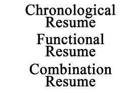 3 types of resume resume for your job application