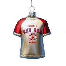 boston sox glass jersey ornament
