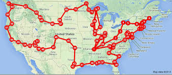 road trip map of usa where did we go on an road trip across the usa