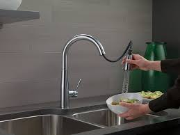 Kitchen Faucet Ratings Consumer Reports by Delta Faucet 9113 Ar Dst Essa Single Handle Pull Down Kitchen
