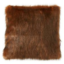 cushion cover with faux fur fake fur cushion cover from tom tailor