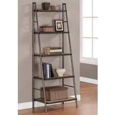 elements stylish ladder shelf with 5 shelves weathered grey oak