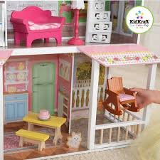 Fisher Price Doll House Furniture Kidkraft Sweet Savannah Wooden Dollhouse With 13 Pieces Of