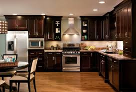 Espresso Painted Kitchen Cabinets by Birch Espresso Kitchen Cabinets