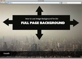 div background url how to use an image as background in a div tag quora