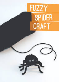 Halloween Spider Craft Ideas by Easy Spider Craft Ideas Make A Fuzzy Spider U0026 Paper Plate Web