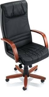 fauteuil bureau cuir bois fauteuil de bureau en cuir trendy fauteuil prsident elegance