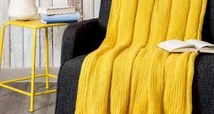 jeté de canapé jaune plaid maisons du monde et autres douceurs pour l hiver