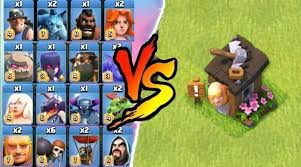 clash of clans all troops epicamazing all troops vs giant builder hut clash of clans all